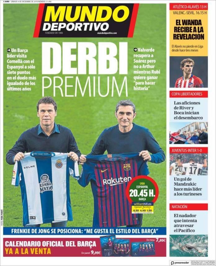 Portada Mundo Deportivo 8/12/2018