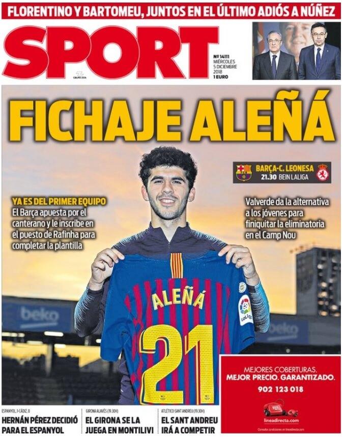 Portada Sport 5/12/2018