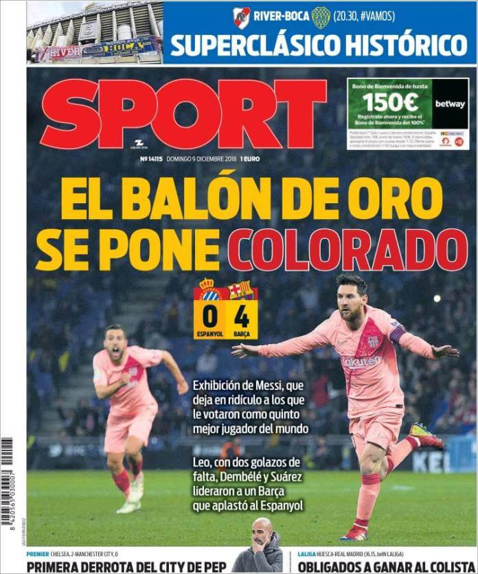 Portada Sport 9/12/2018