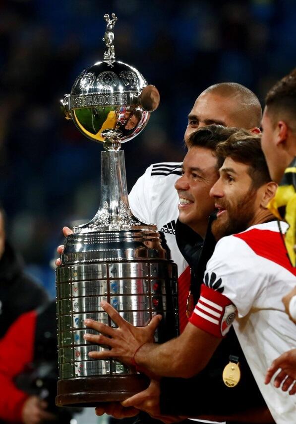 Imágenes River Campeón Libertadores 2018 en el Bernabéu