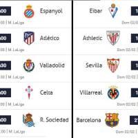 Partidos Jornada 22 Liga Española 2020 | Horarios y Clasificación