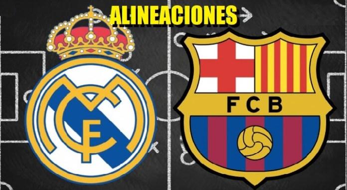 Alineación Real Madrid-Barcelona Jornada 26