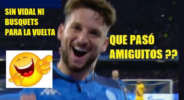 memes napoli barcelona