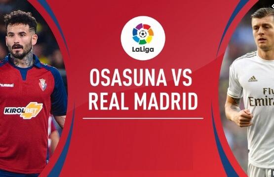 Alineación Osasuna-Real Madrid Jornada 23 | La Liga 2020