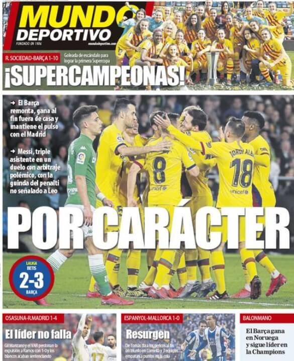 Portada diario Mundo Deportivo