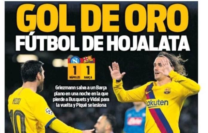 Portadas Diarios Deportivos Miércoles 26