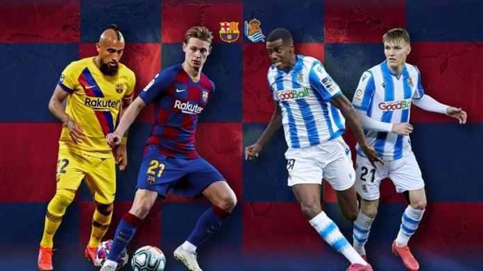 Alineación Barcelona-Real Sociedad
