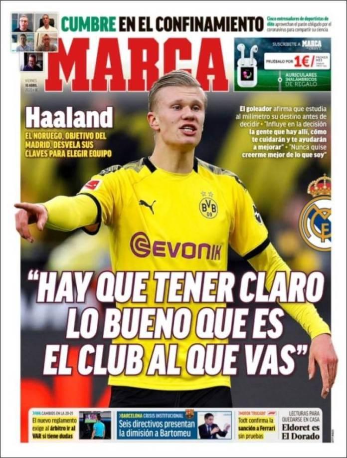 Portadas Diarios Deportivos Viernes 10/04/2020