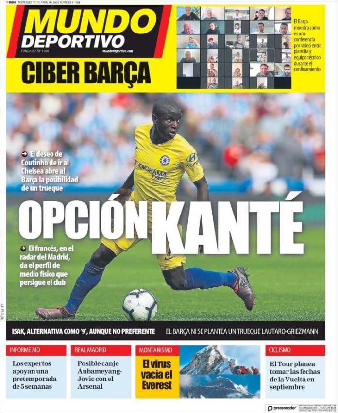 Portadas Diarios Deportivos Miércoles 15/04/2020