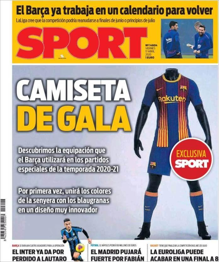 Portadas Diarios Deportivos Viernes 17/04/2020