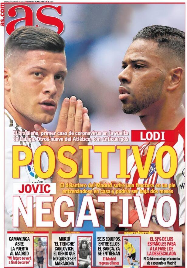 Portadas Diarios Deportivos Sábado 9/05/2020