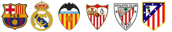 escudos futbol español primera barcelona real madrid valencia sevilla athletic atletico