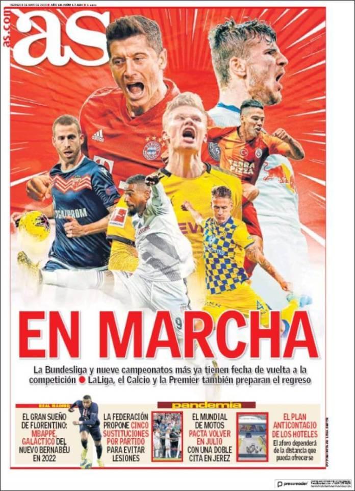 Portadas Diarios Deportivos Viernes 8/05/2020