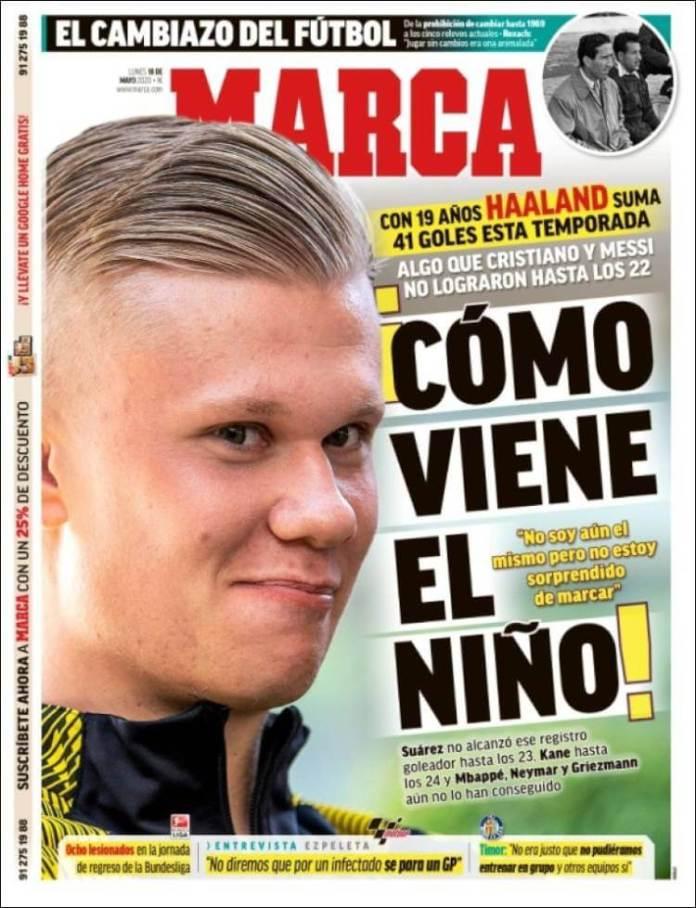 Portadas Diarios Deportivos Lunes 18/05/2020