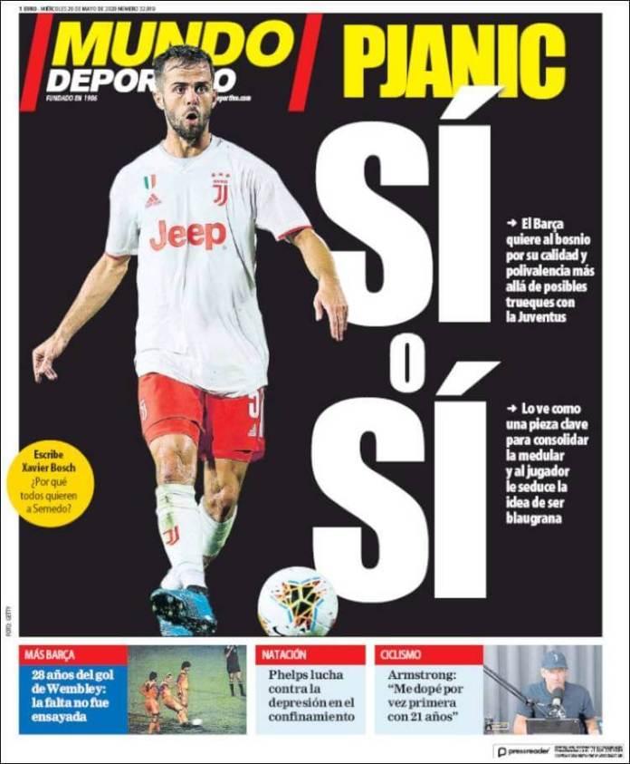 Portadas Diarios Deportivos Miércoles 20/05/2020