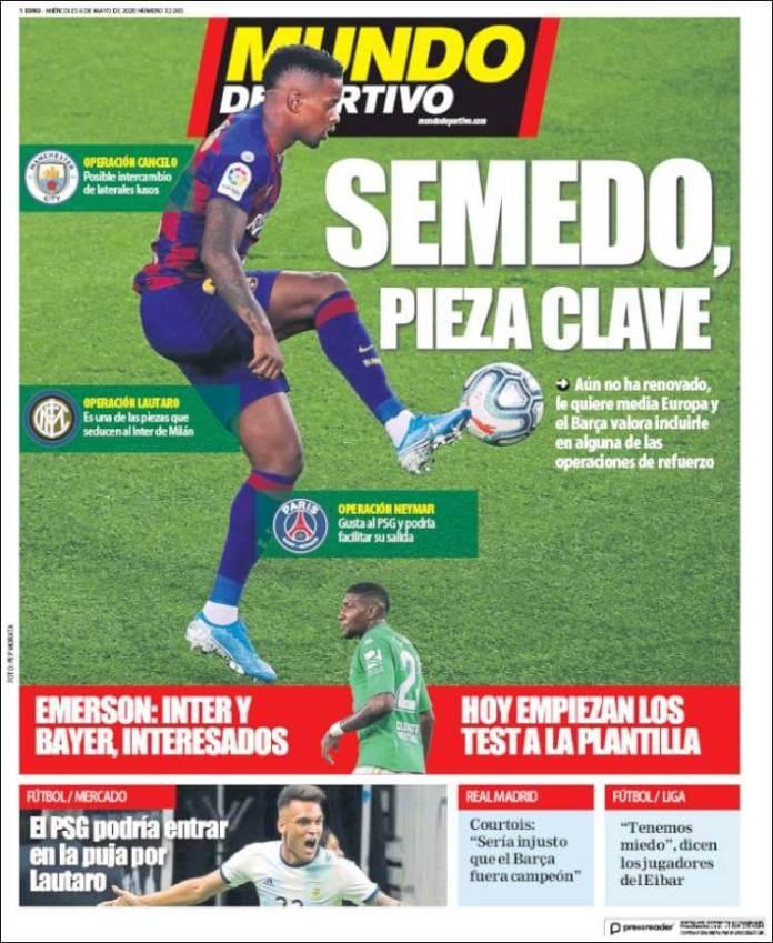 Portadas Diarios Deportivos Miércoles 6/05/2020