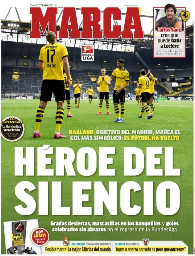 Portadas Diarios Deportivos Domingo 17/05/2020