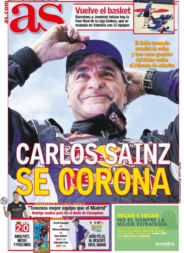 Portadas Diarios Deportivos Miércoles 17/06/2020