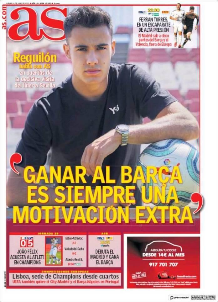 Portadas Diarios Deportivos Jueves 18/06/2020