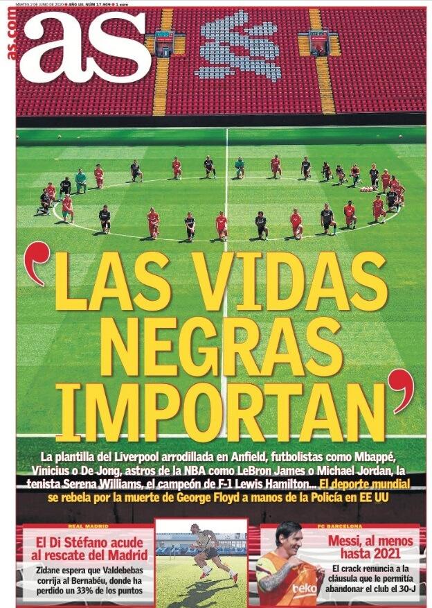Portadas Diarios Deportivos Martes 2/06/2020