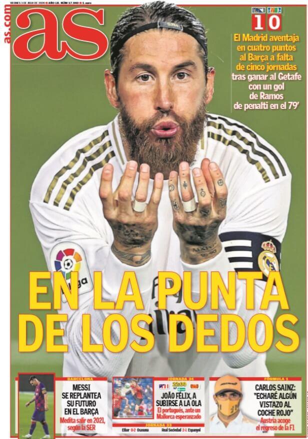 Portadas Diarios Deportivos Viernes 3/07/2020