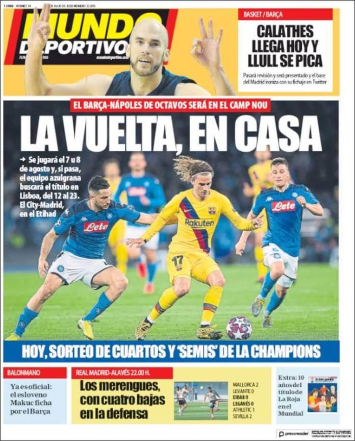 Portadas Diarios Deportivos Viernes 10/07/2020