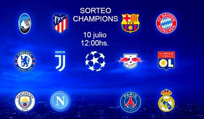 Sorteo Champions: Cuartos y Semifinales 2020