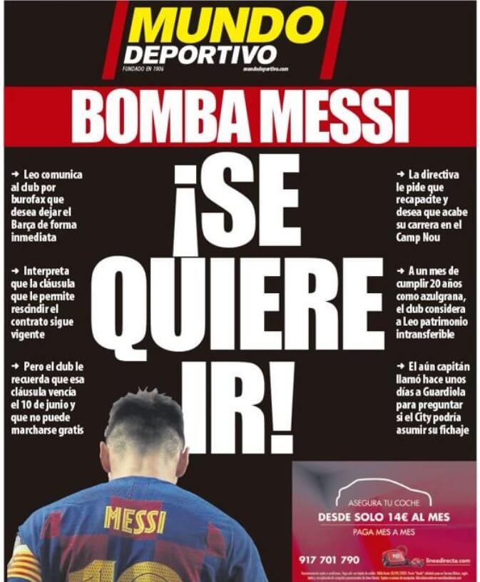 Portadas Diarios Deportivos Miércoles 26/08/2020
