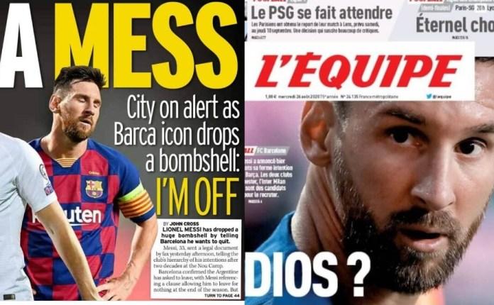 Las Portadas del Adiós de Messi en la Prensa Internacional