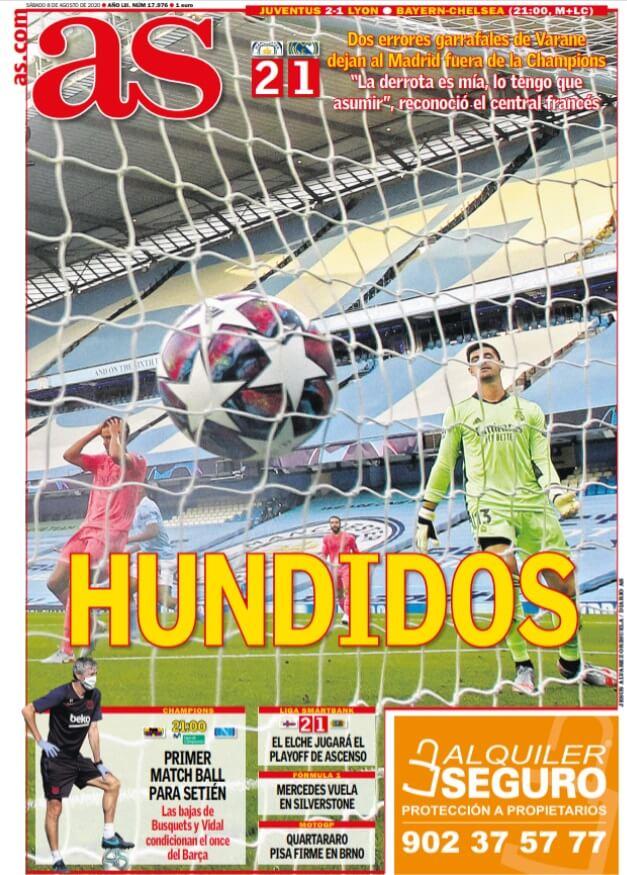 Portadas Diarios Deportivos Sábado 8/08/2020