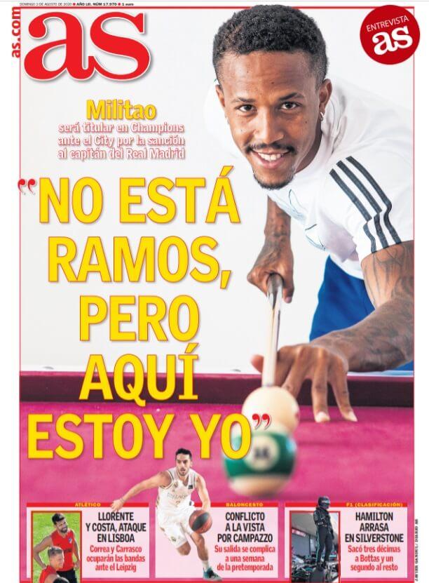 Portadas Diarios Deportivos Domingo 2/08/2020