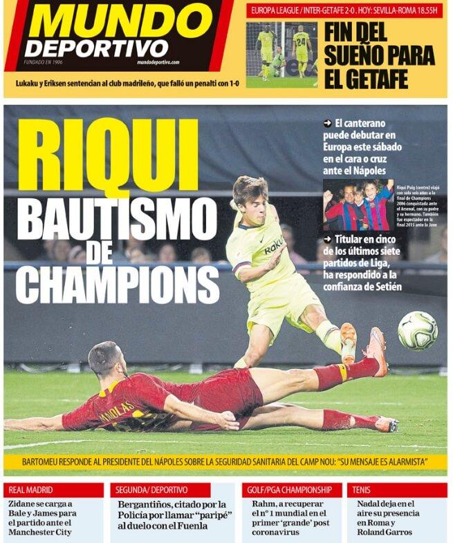 Portadas Diarios Deportivos Jueves 6/08/2020