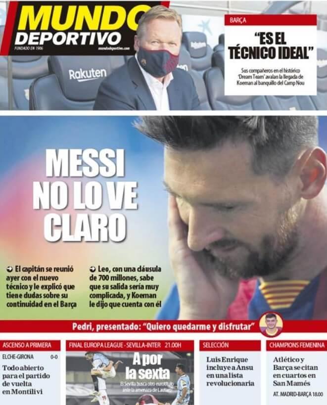 Portadas Diarios Deportivos Viernes 21/08/2020