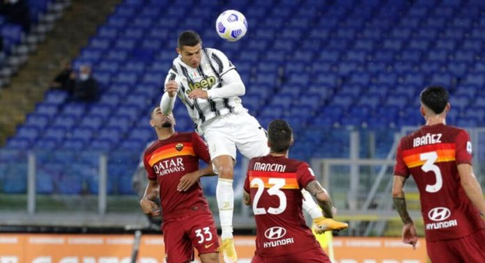 Doblete de Cristiano para rescatar un empate ante la Roma