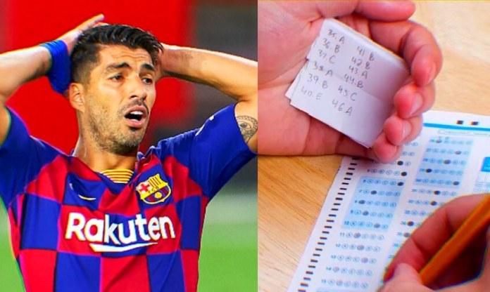 Luis Suárez hizo trampas en el examen de italiano