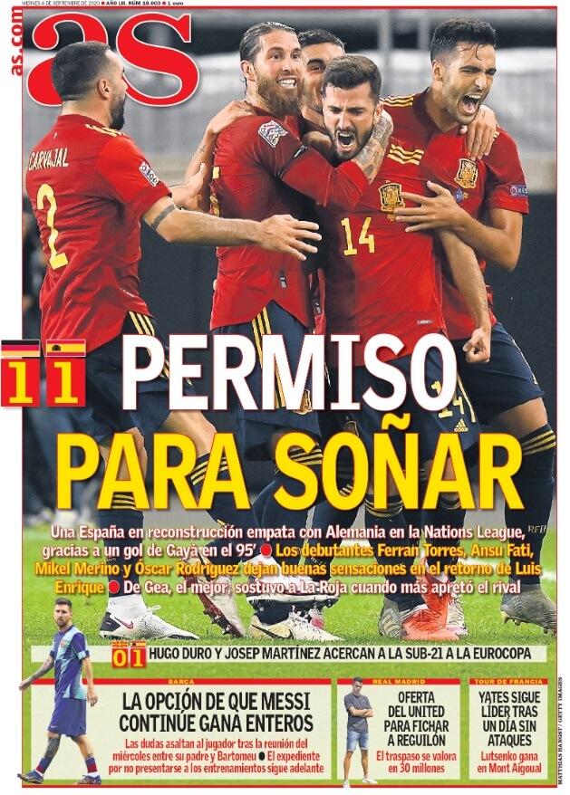 Portadas Diarios Deportivos Vienes 4/09/2020