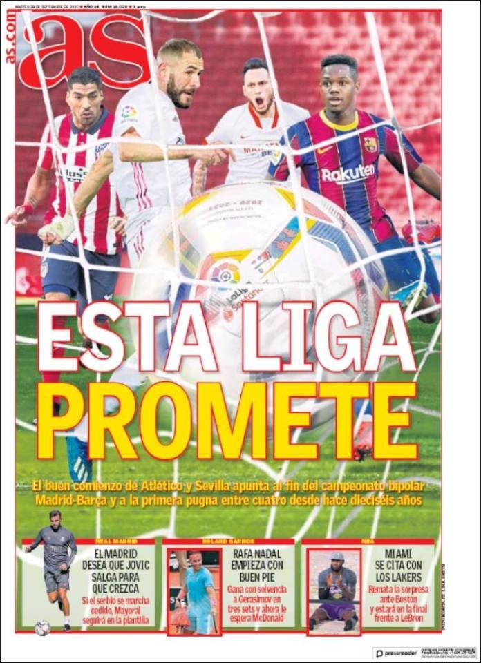 Portadas Diarios Deportivos Martes 29/09/2020