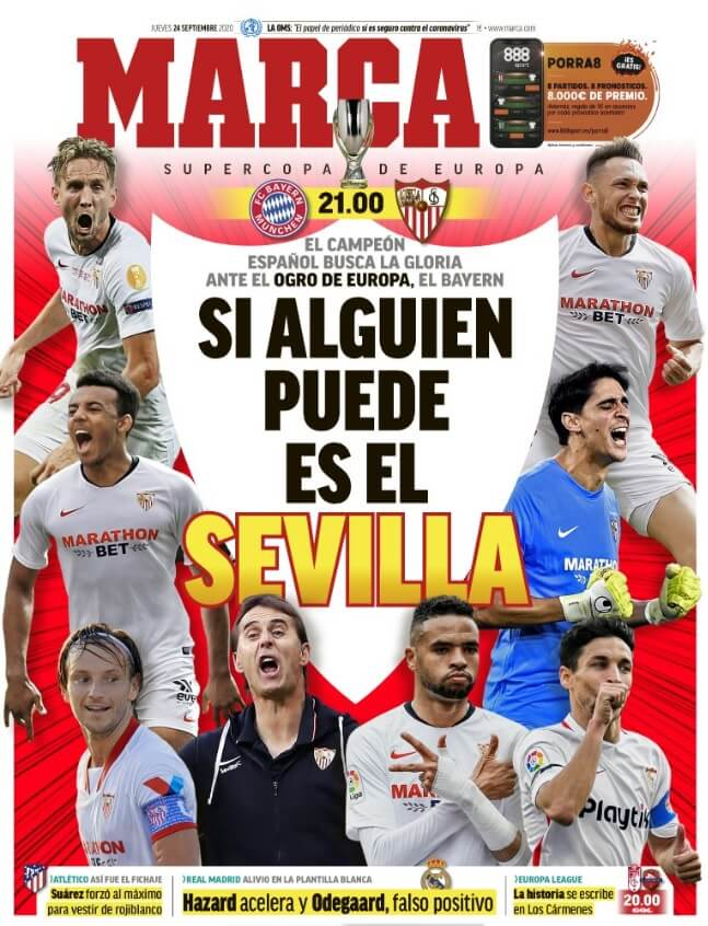Portadas Diarios Deportivos Jueves 24/09/2020
