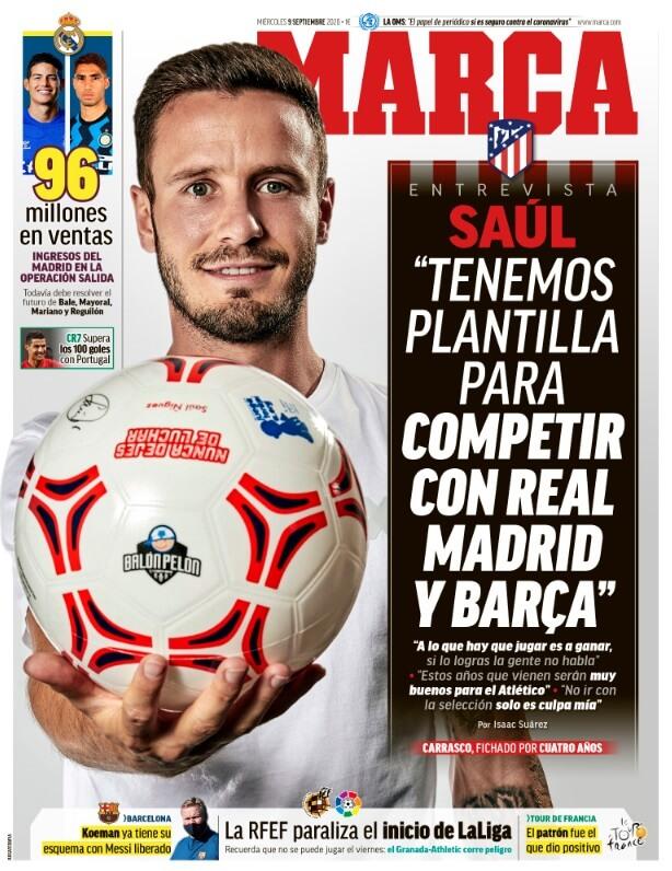 Portadas Diarios Deportivos Miércoles 9/09/2020