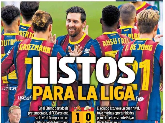Portadas Diarios Deportivos Domingo 20/09/2020 | Marca, As, Sport, Mundo Deportivo