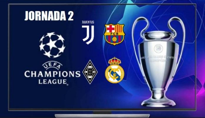 Partidos Jornada 2 Champions League 2020-21 | Horarios y TV