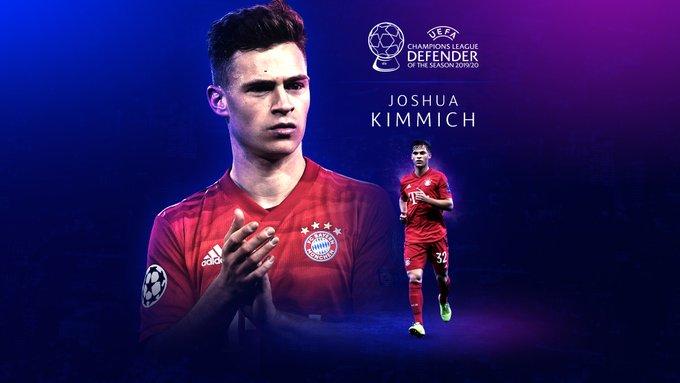 Joshua Kimmich Mejor Defensor del 2019-2020