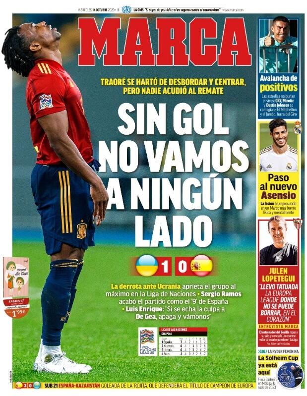 Portadas Diarios Deportivos Miércoles 14/10/2020