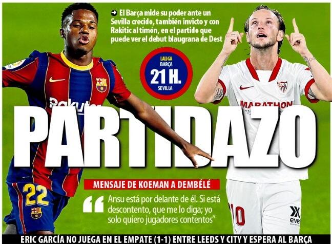Portadas Diarios Deportivos Domingo 4/10/2020