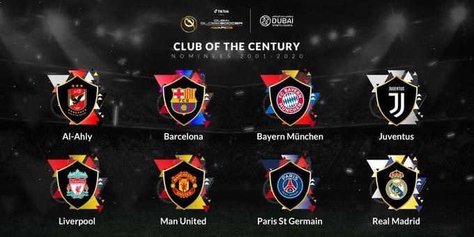 Globe Soccer Awards: Nominados a Mejor Club del Siglo