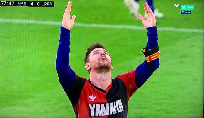 Golazo de Messi y Homenaje a Maradona con la camiseta de Newells