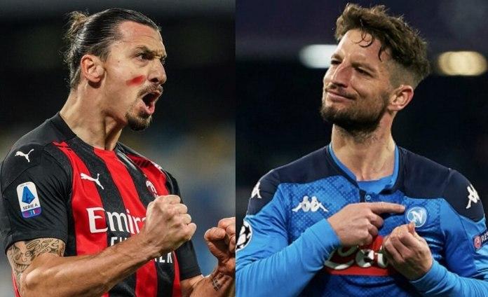 Doblete de Ibra al Napoli y Milan puntero del Calcio