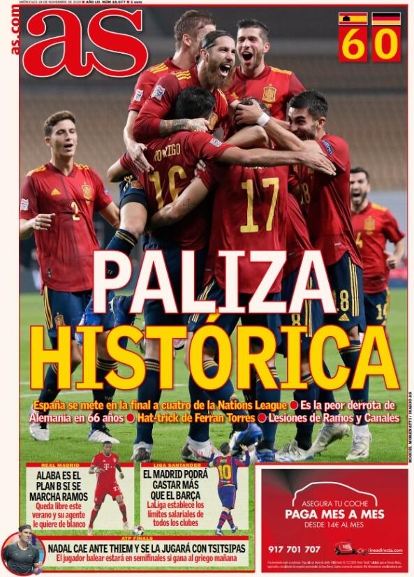 Portadas Diarios Deportivos Miércoles 18/11/2020