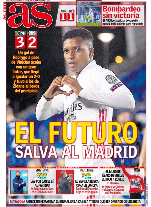 Portadas Diarios Deportivos Miércoles 4/11/2020