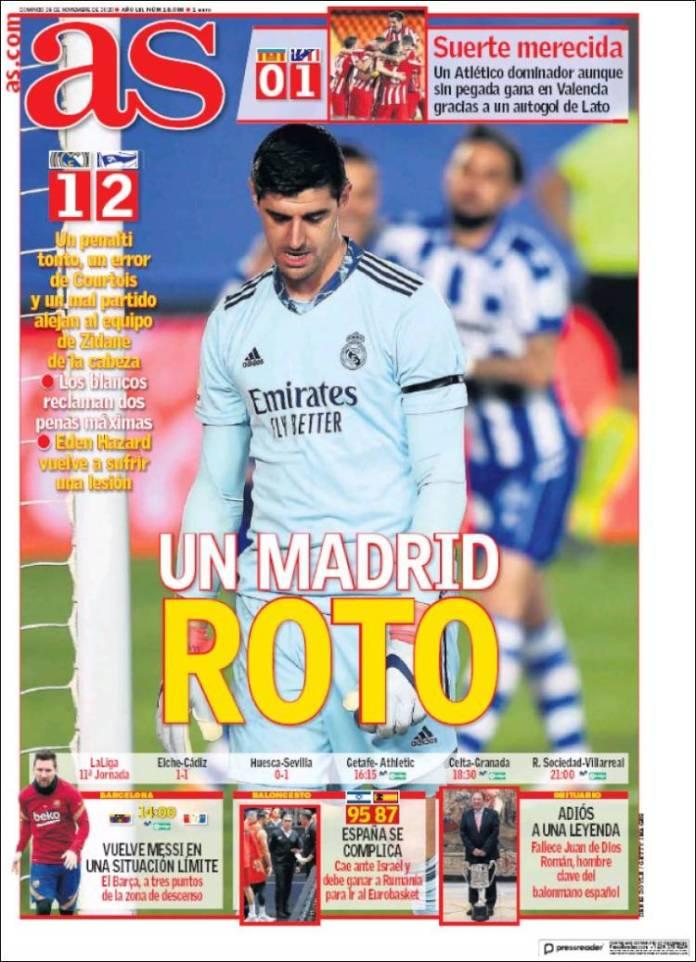 Portadas Diarios Deportivos  Domingo 29/11/2020